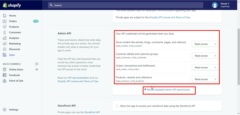 How to get API Keys for Shopify?